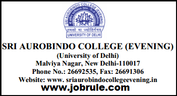 Sri Aurobindo College (SAC-Delhi University) New Non Teaching Jobs Opening December 2014