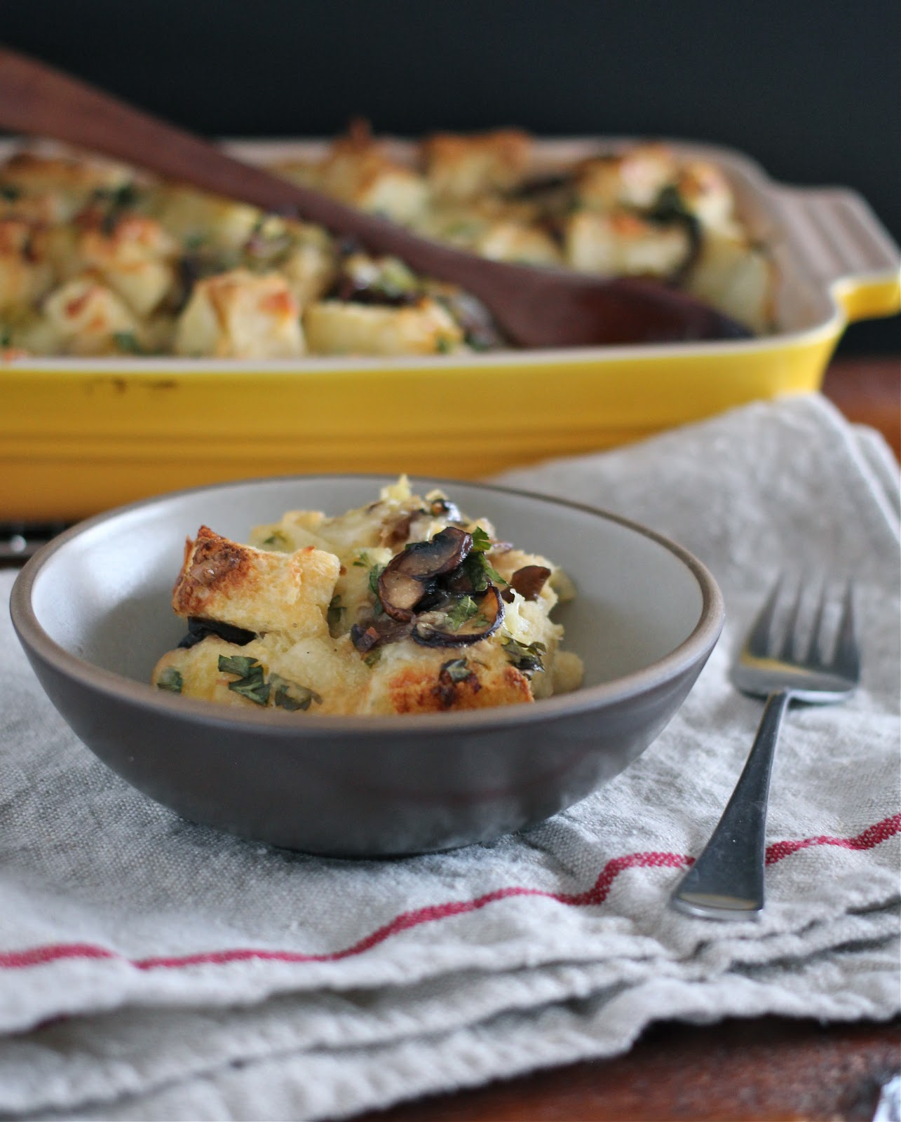 Arctic Garden Studio: Leek and Mushroom Bread Pudding
