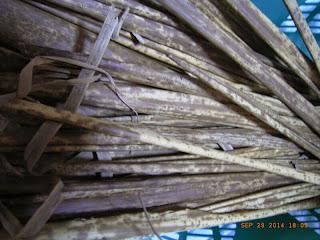 竹皮ぞうりの準備