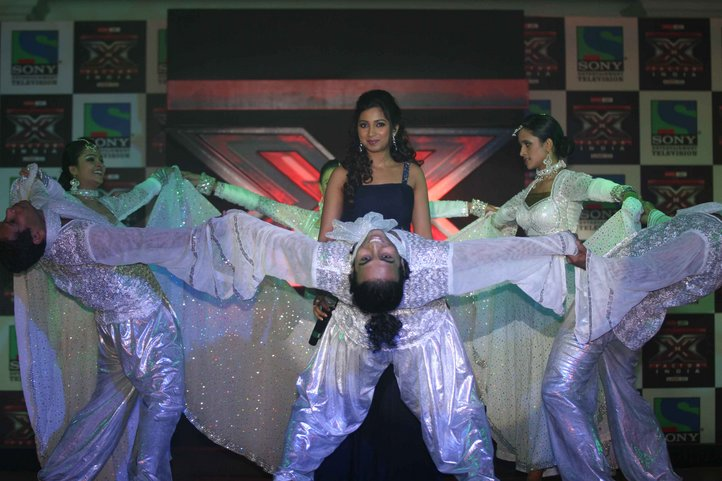 Shreya Ghoshal Hot  Sony TV Music Show X Factor Launch Party Stills gallery pictures