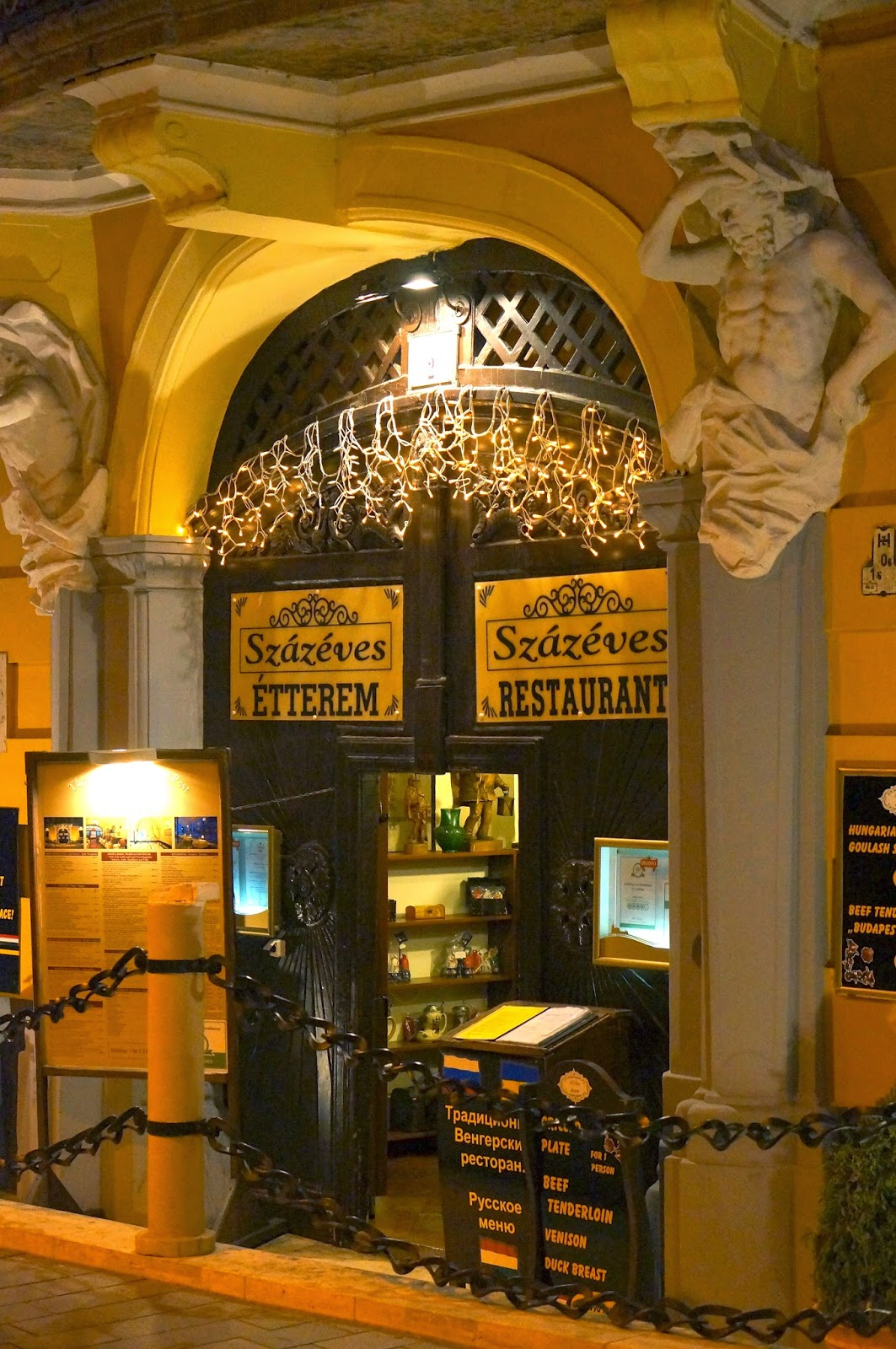 Budapest Hungary,Szazeves Restaurant,Danube River,Europe,Puszta Cocktail.