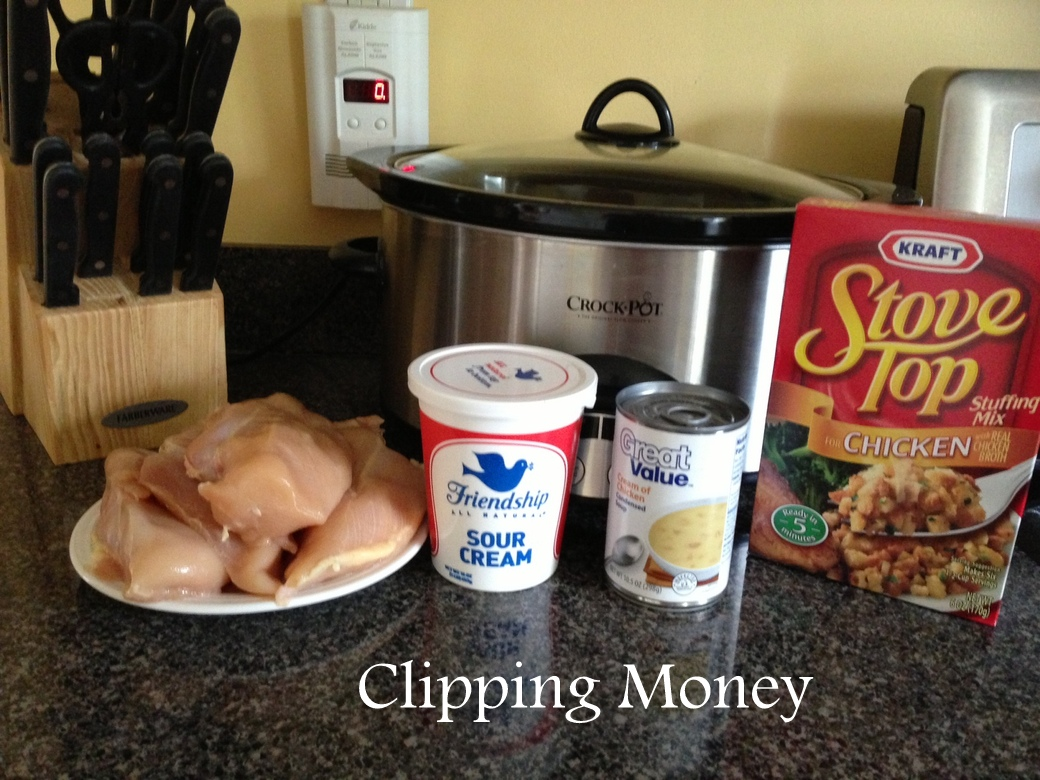 Clipping Money: SUPER EASY Crock Pot Chicken & Stuffing