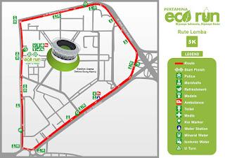 Rute 5K Pertamina Eco Run 2015 Jakarta
