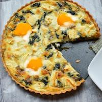 pastel de acelgas, queso y huevos