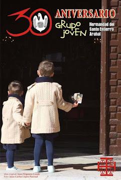 Cartel XXX Aniversario Grupo Joven Hdad Santo Entierro Arahal 2017
