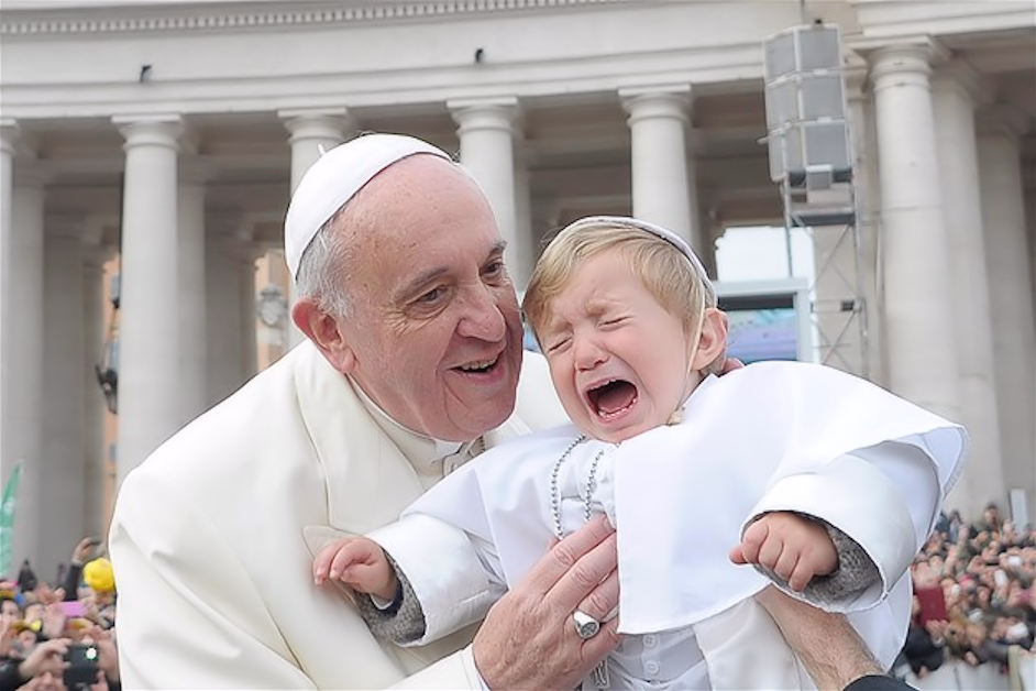 Pope Francis reassures his Mini-me
