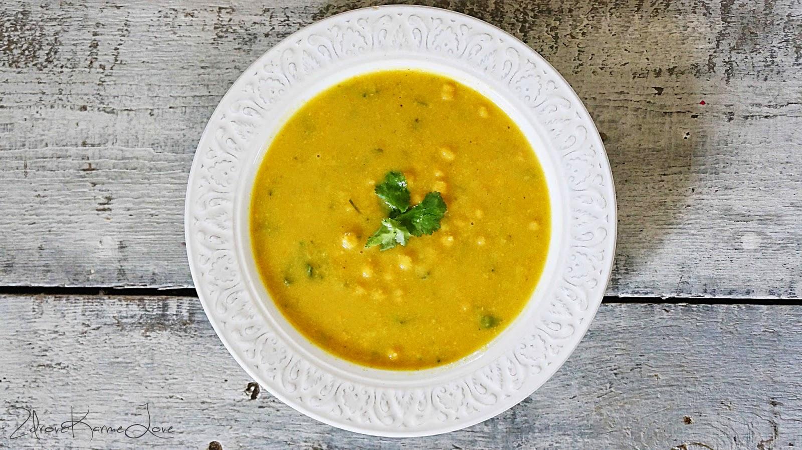 Zdrove Karmelove Kalafiorowa Zupa Curry Z Ciecierzyca Weganska