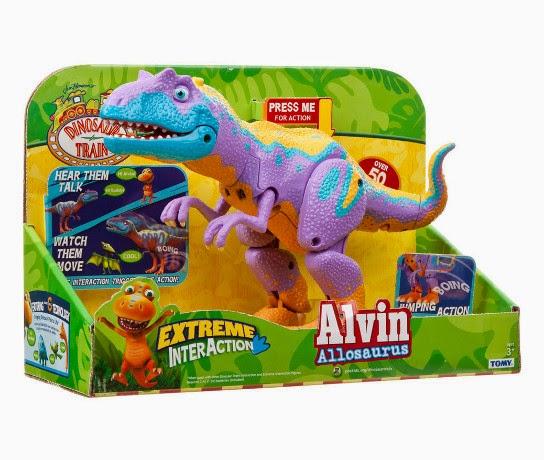 JUGUETES - DINOTREN - Alvin Allosaurus | Interactivo  Producto Oficial | TOMY LC53128CS | A partir de 3 años