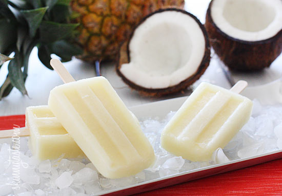 Skinny Pina Colada Ice Pops Skinny Pina Colada Ice Pops