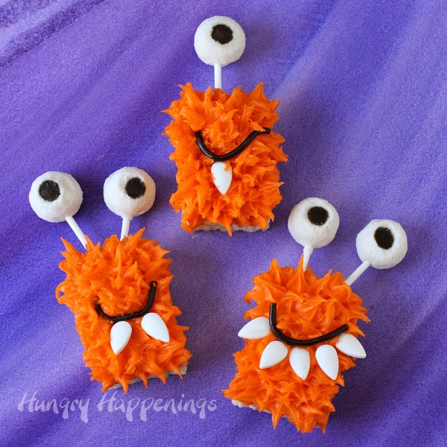 ... to make fun things like these silly Rice Krispie Treat Monsters