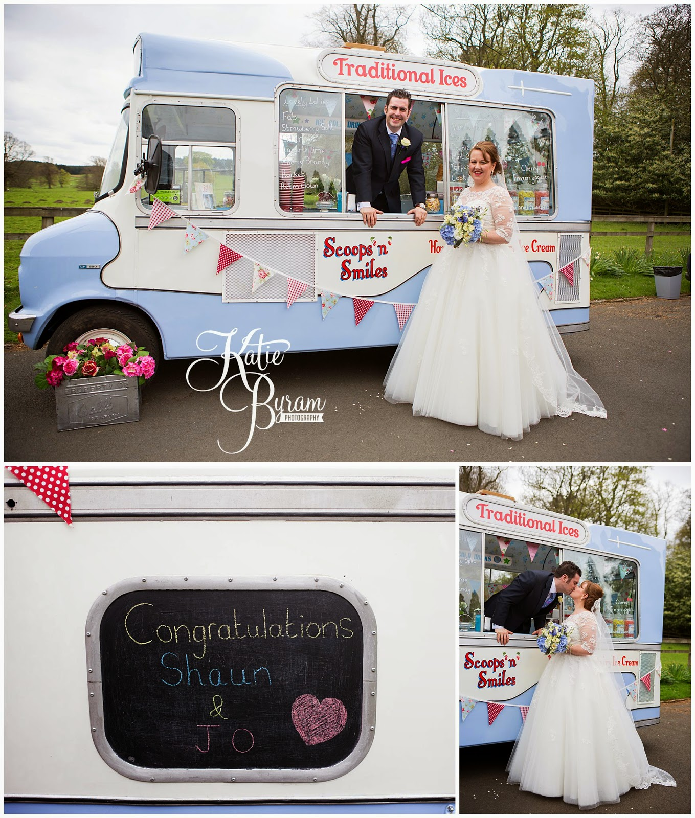 scoops and smiles, minsteracres wedding, lord crewe arms wedding, dog at wedding, scoops and smiles, katie byram photography, ice cream van hire newcastle, newcastle wedding photography, relaxed wedding photography, quirky, 50's wedding, alternative wedding, irregular choice, wedding dress with sleeves