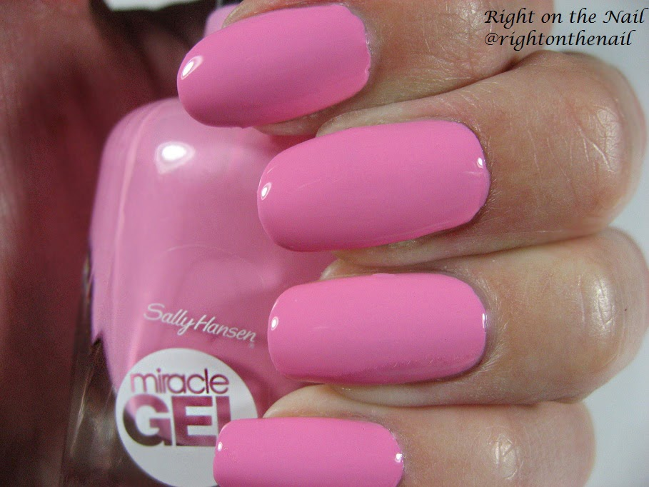 Right On The Nail Sally Hansen Miracle Gel Review And Swatches Pink Cadillacquer