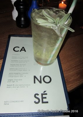 Cafe No Se -- white sangria with sage