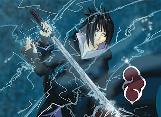 Sasuke Lightning on sword