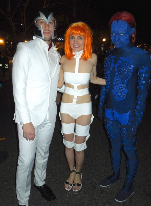 X,Men Fifth Element costumes West Hollywood Halloween