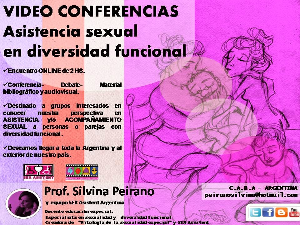 """VIDEO CONFERENCIAS sobre ASISTENCIA SEXUAL en DIVERSIDAD FUNCIONAL/discapacidad"