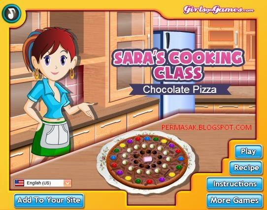 Permainan Memasak Pizza Cokelat