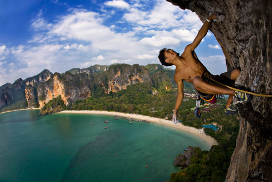 La escalada en la playa de Railay Beach