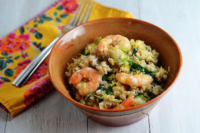 Slow Cooker Shrimp and Artichoke Barley Risotto from Cara's Cravings [found on SlowCookerFromScratch.com]