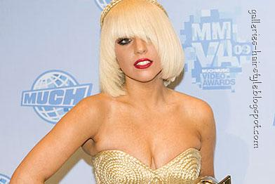blonde celebrity hairstyle, celebrity lady gaga
