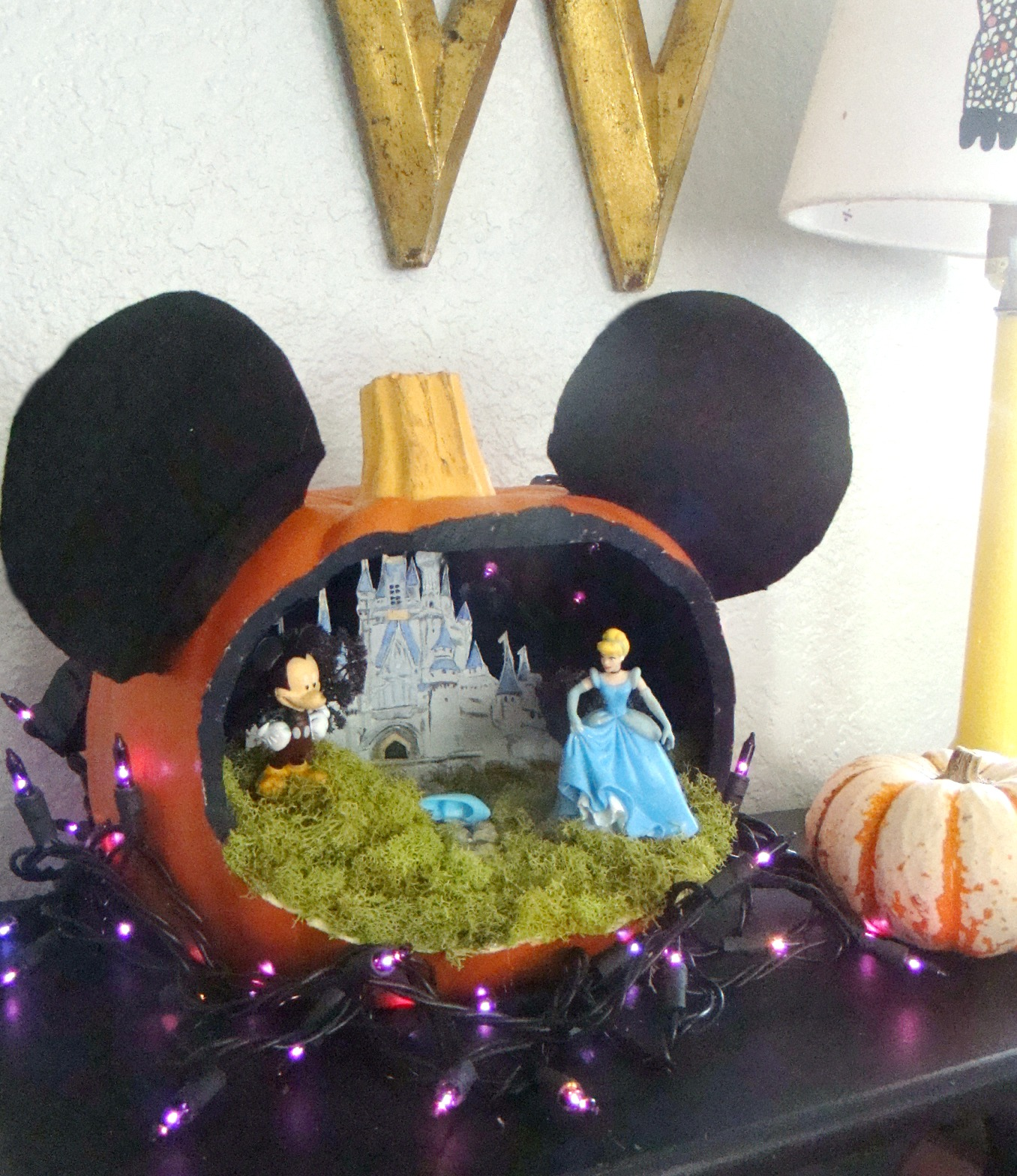 Southern Bluebird Day: Disney World Inspired Pumpkin Diorama