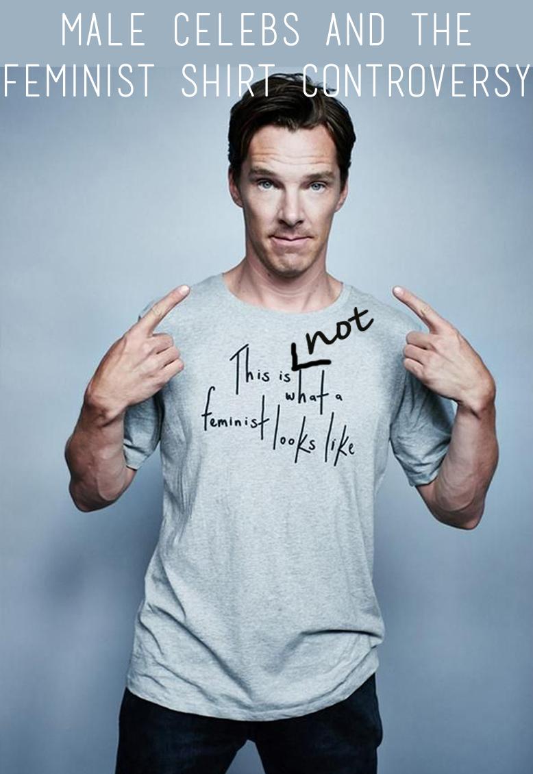 feminist shirt, feminist shirt controversy, elle feminist shirt, benedict cumberbatch