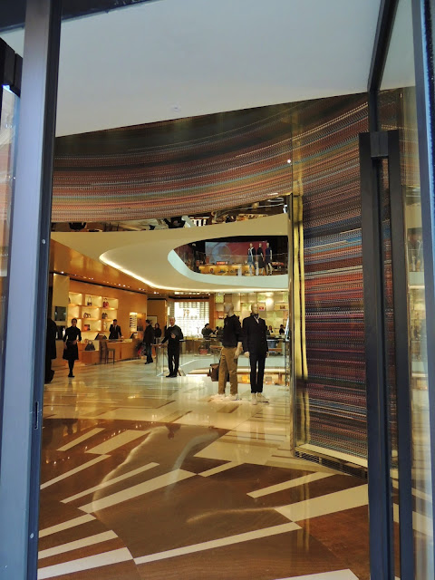Louisn Vuitton store with vintage cinema screen