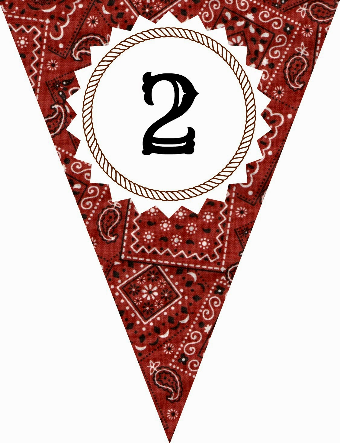 FREE Printable Western-Themed Pennant Banner (includes all letters and numbers) | Apples to Applique #western #party #cowboy #cowgirl #birthday