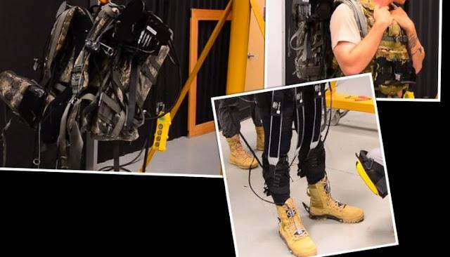 DARPA prueba un exoesqueleto para que los soldados puedan cargar mucho más peso