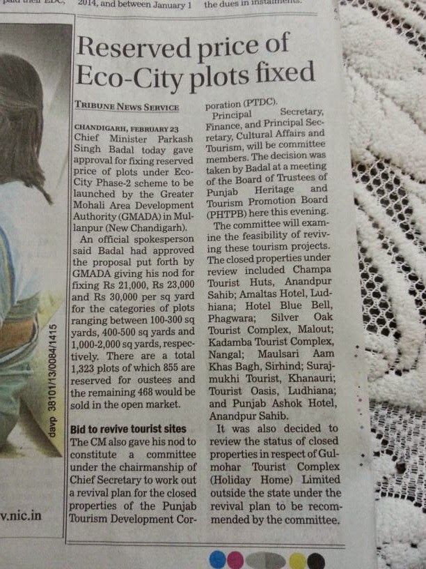 Ecocity Phase 2 Reserved Prices for plots Fixed By GMADA