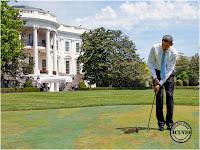 Funny photo Barack Obama President Hobby