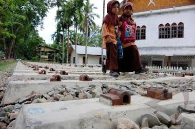 Rel Kereta Terbengkalai di Aceh