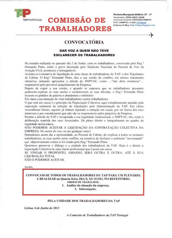 CONVOCATÓRIA/6JUN2011