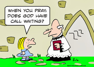 Praying to God Humor Cartoon