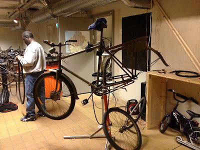 Swedish military bike in progress