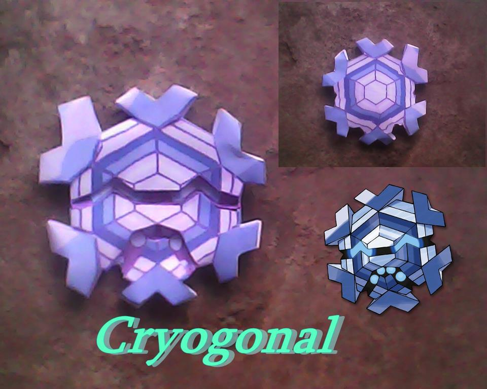 Pokemon Cryogonal Papercraft