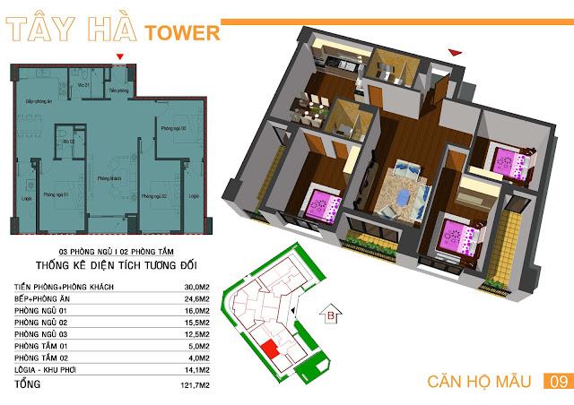 Căn số 9 chung cư Tây Hà Tower