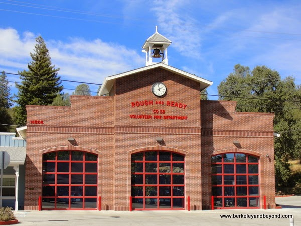 firehouse in Rough and Ready, California