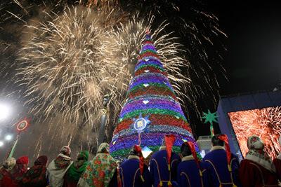 Фото Укринформ: новогодняя елка Киев