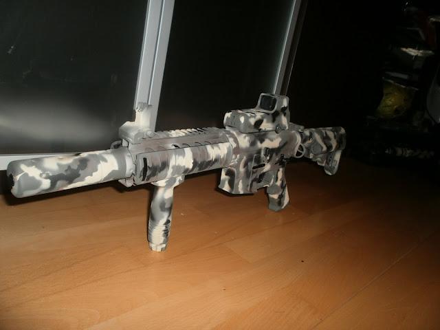 "M4 SD  D-Boys ""Pintura: EME - Custom, CAMO MULTILAND"" P1015957"