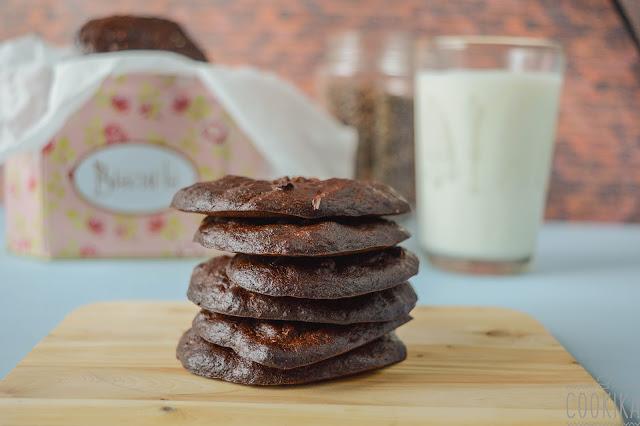banana chocolate peanut butter cookies