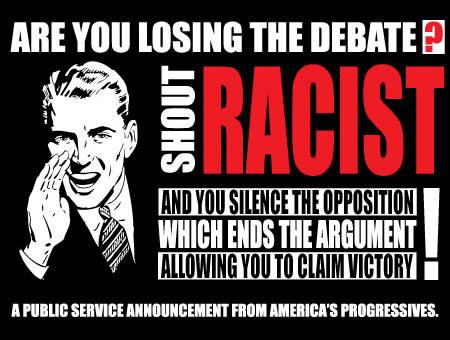 liberal race card