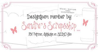 Trots DT-lid bij Sandra's Scrapsshop