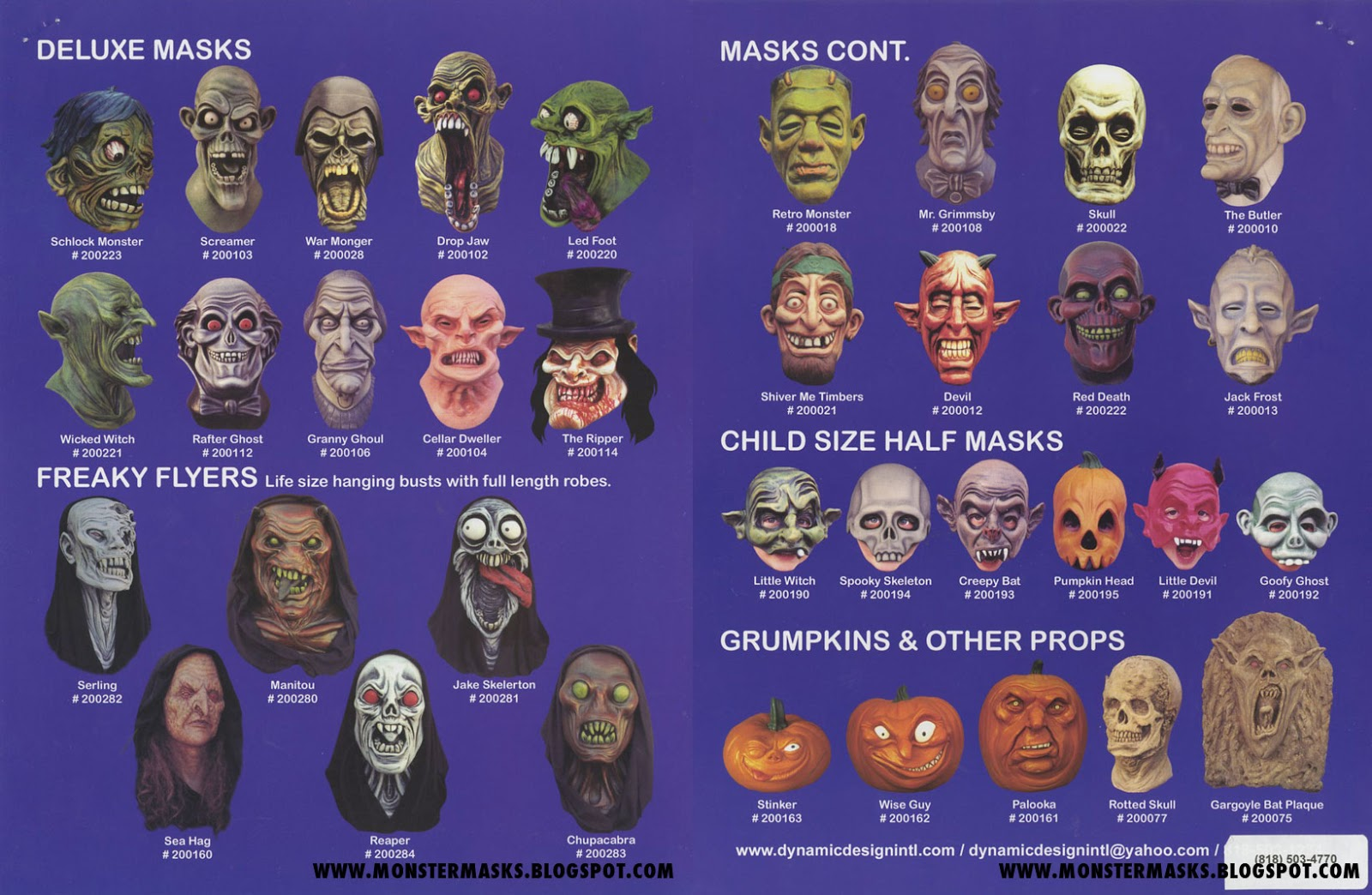 Blood Curdling Blog of Monster Masks: November 2014