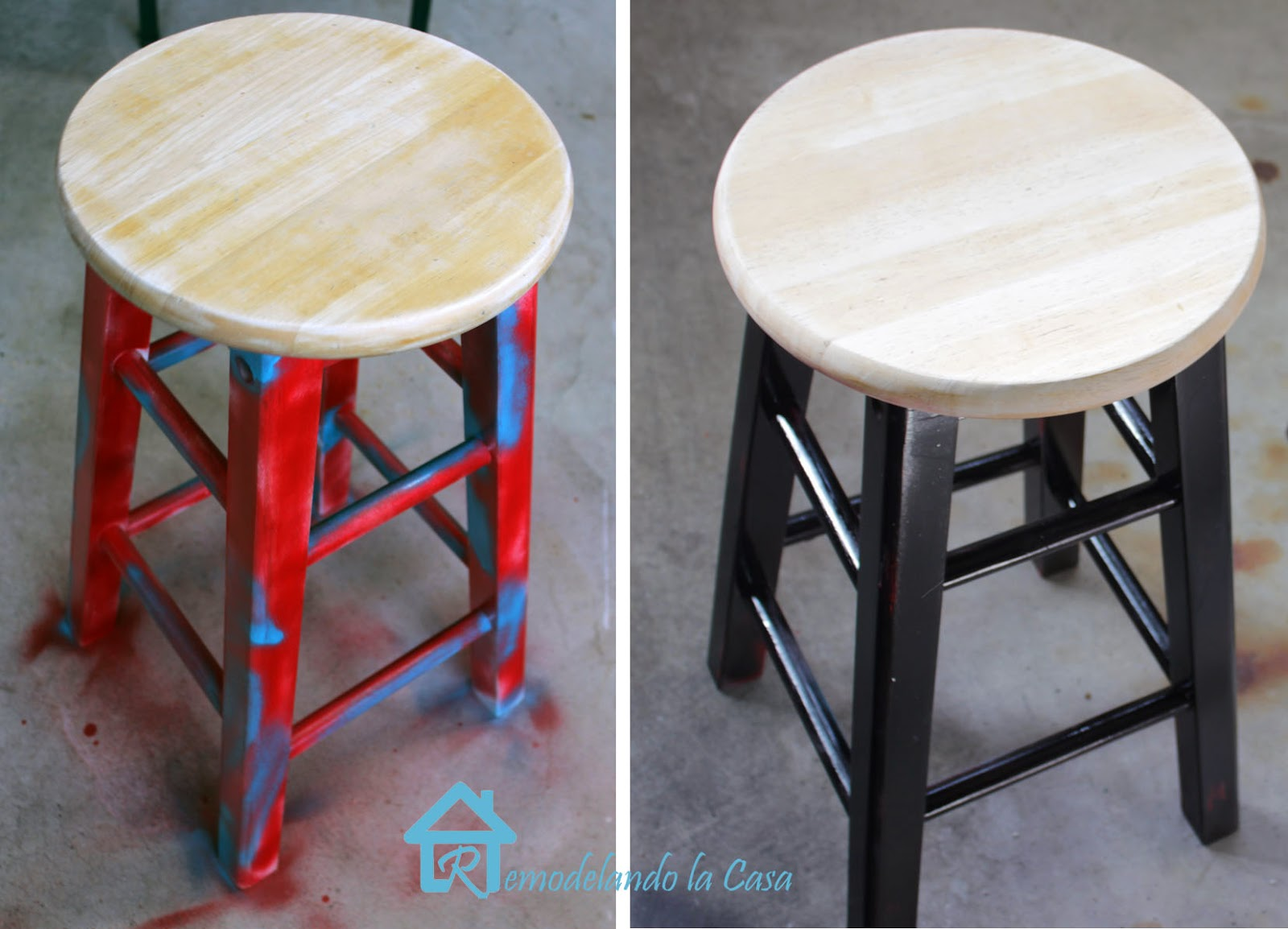 stools painted transformation