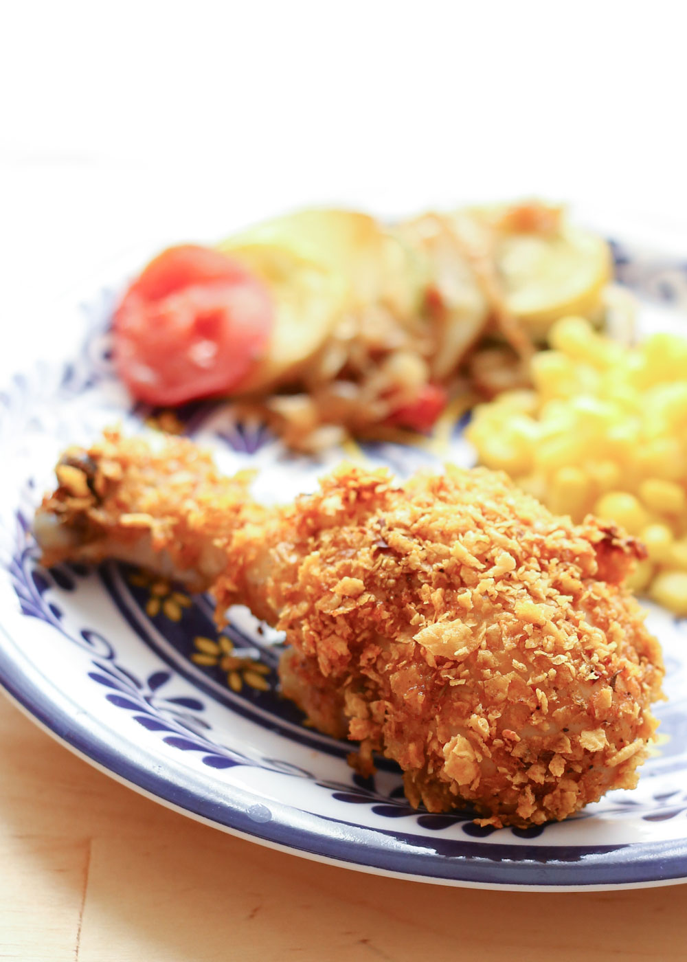 {Oven-Fried} Crispy Cholula Chicken - recipe by Barefeet In The Kitchen