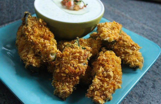 Baked Bacon Jalapeno Poppers with Cilantro Ranch Dressing (GF) | Dolo ...