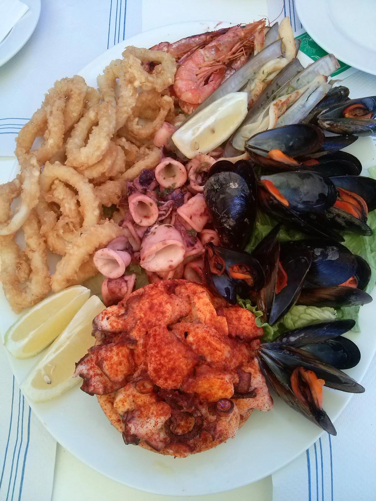 santiago compostela galicia marisco comida