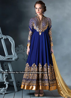 Jacket Style Anarkali Suit / Embroidered Ankle Length Anarkali Suits