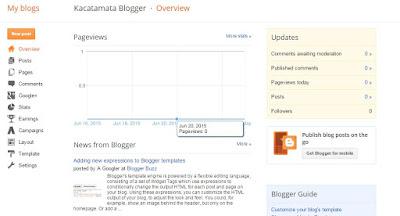 langkah membuat blog di blogspot untuk pemula selesai